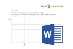 Beschriftungsvorlage im Word-Format für Kabelsortierer