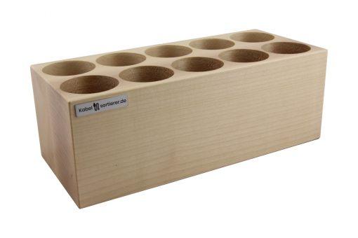 Premium-Kabelsortierer aus lackiertem Ahorn-Holz