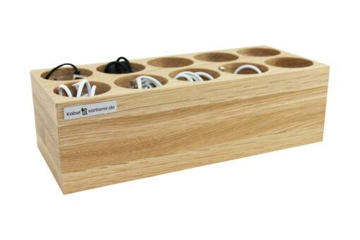 Organizer für Kabel aus Eichenholz