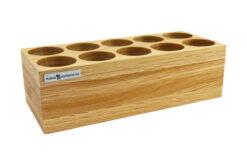 Kabel aufbewahren im Premium-Organizer aus Eichenholz