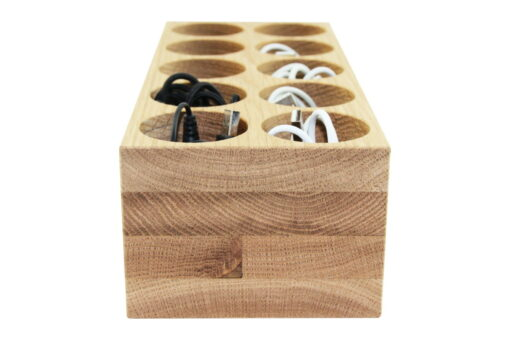 Kabelbox aus Eichenholz